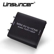 Unstincer Мини HD conposite AV CVBS L/R RCA к HDMI адаптер конвертер с аудио Upscaler 1080 P AV2HDMI видео конвертер для HDTV