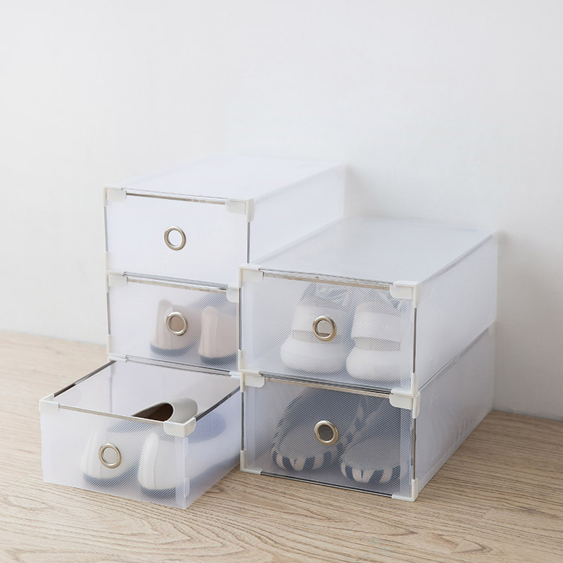 Translucent Plastic Men And Women Drawer Shoe Storage Box Underwear Clothes Organizer Gift Boxes Simple Shoebox