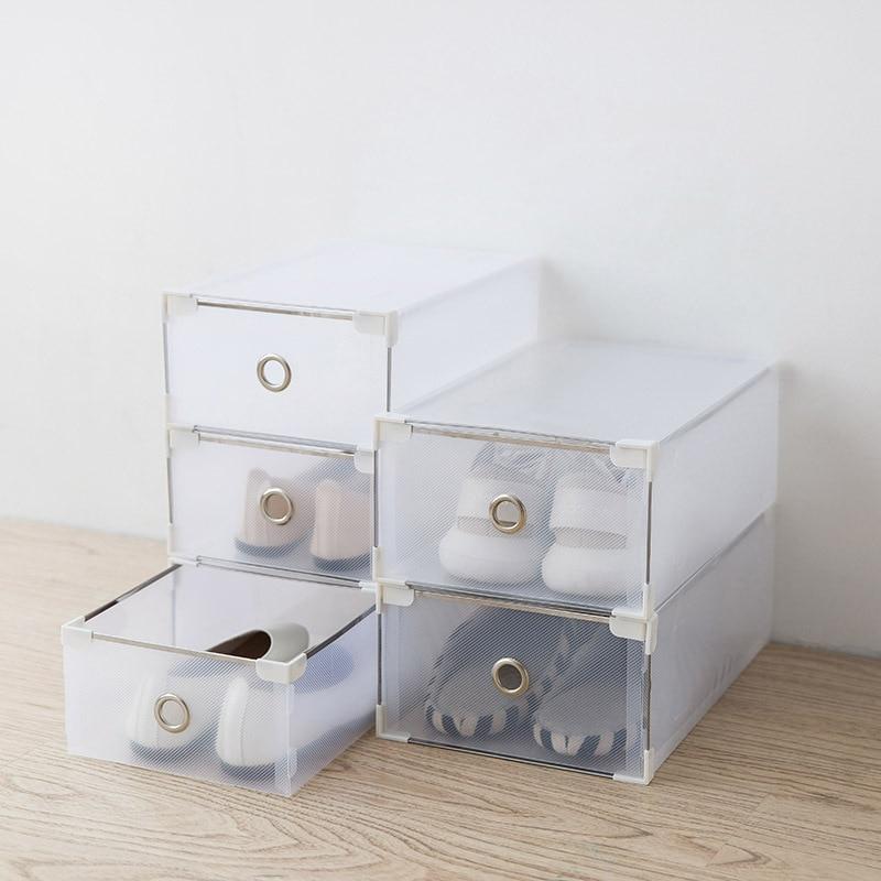 Translucent Plastic Men And Women Drawer Shoe Storage Box Underwear Clothes Organizer Gift Boxes Simple Shoebox