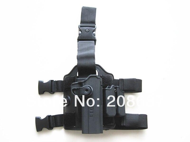 Tactical gun holster Drop Leg Holster for 1911 IMI Rotary Holster+magazine carrier+leg panel