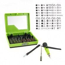 цена на 53pcs/lot Cellphone Repair Tool Kit Multi-purpose Screwdriver Set For iPhone Mac iPad Samsung Magnetic Torx PH Pentalobe Tools