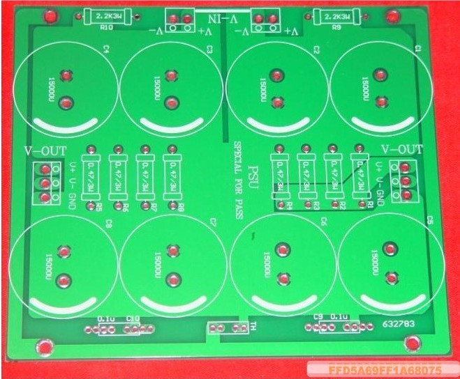 PASS Dedicated Power Board PCB CRC Type 8 Capacitor Power Supply Empty Board
