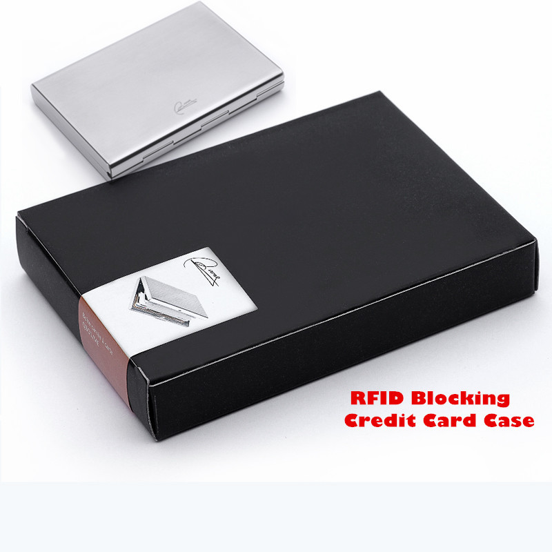 2015 Latest Stainless Steel RFID Blocking Credit Card Holder for ...