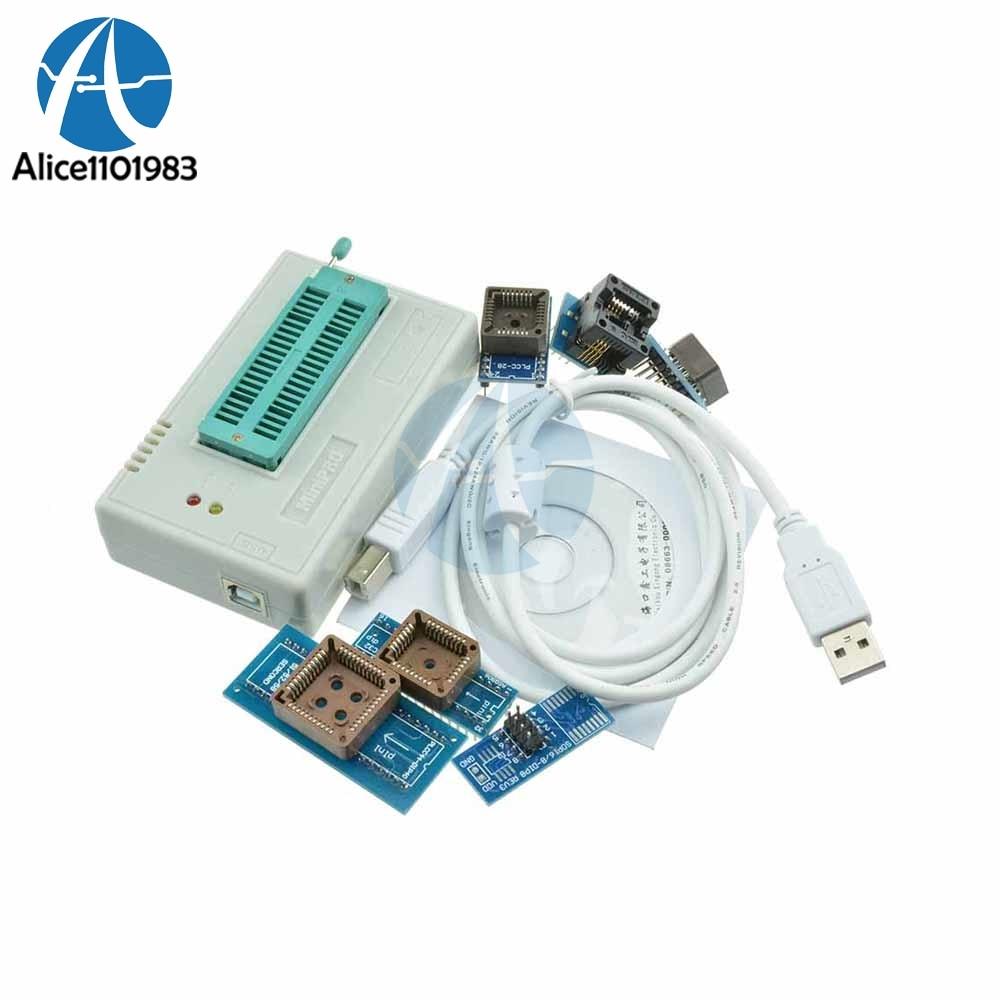 TL866II Plus programmeur USB BIOS EPROM FLASH 6 adaptateurs Module d'extracteur de prise 13000 Module IC