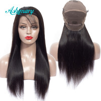 Ashimary Full Lace Human Hair Wigs Straight Hair Remy Brazilian Hair Full Lace Wig Pre Plucked Bleached Knots 180% Density
