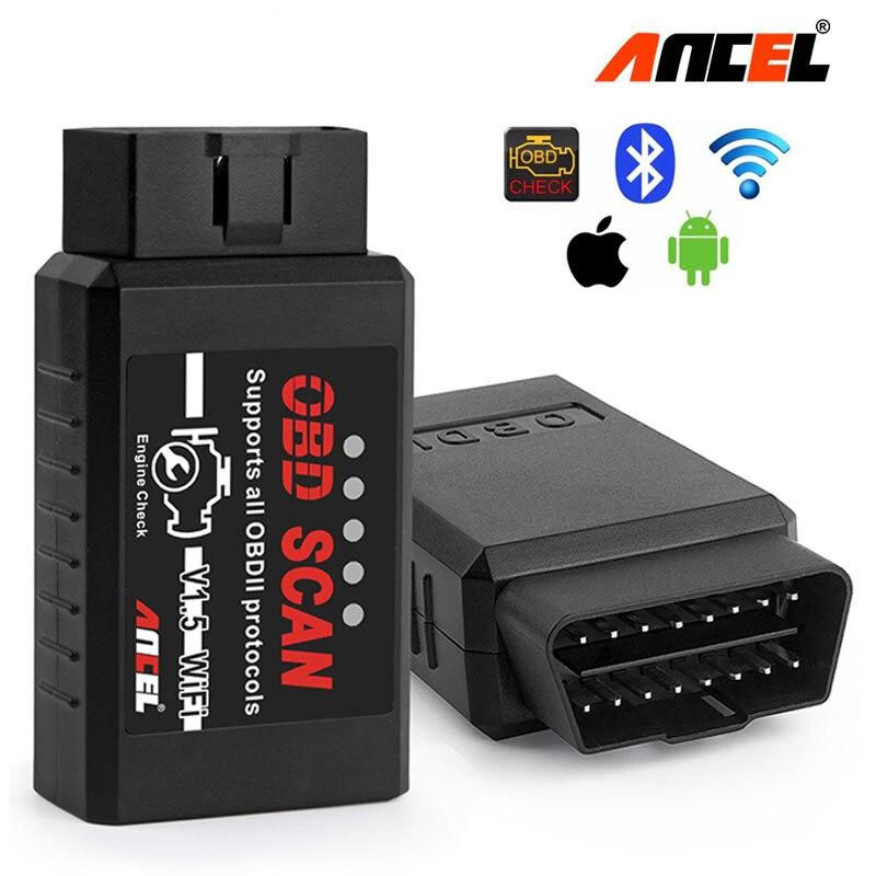 Ancel OBD2 Wifi ELM327 v1.5 IOS Automotive Scanner ODB 2 Car Diagnostic Tool ELM 327 Pic18f25k80 OBD 2 Iphone v1.5 Auto Scanner