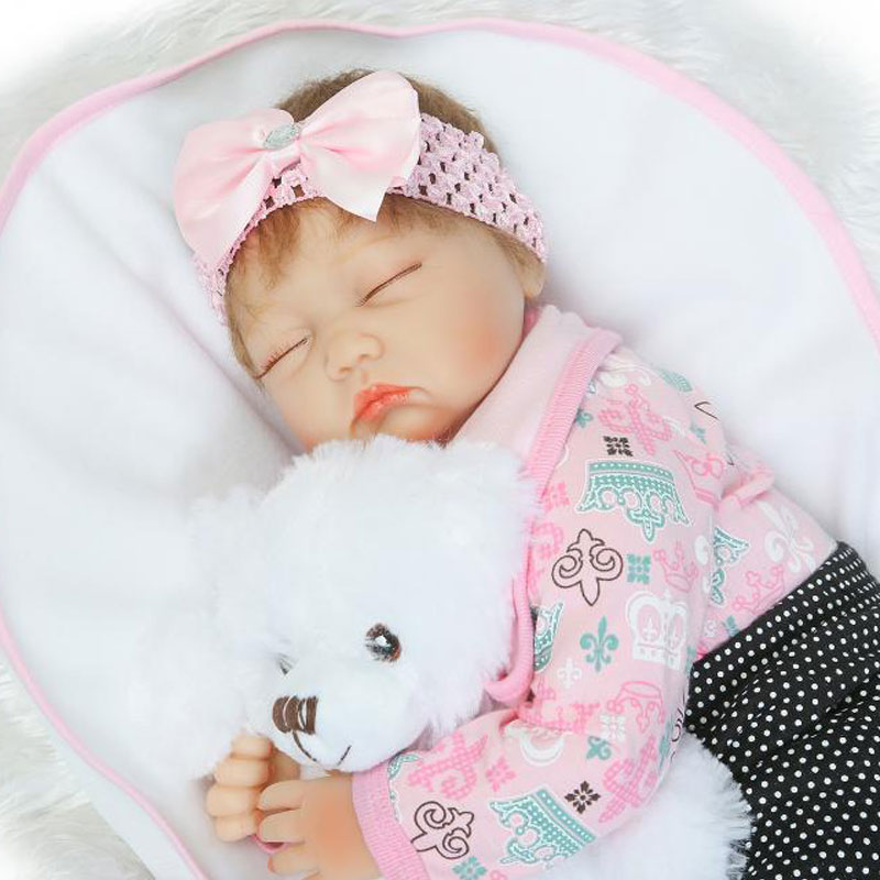 22inch Soft Silicone Reborn Doll Toys BeBe Reborn 55cm PP Cotton Body Newborn Baby Toy Lifelike BeBe Reborn Babies Brinquedos  fashion baby toys 55cm soft silicone reborn baby dolls 22inch bebe doll lifelike baby gift toys brinquedos newborn babies toys