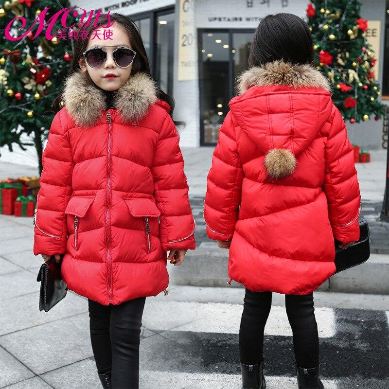 ФОТО Girls winter Coat 2016 New Children winter Jacket big virgin long section cotton warm jacket kid Thick Padded Outwear wholesale