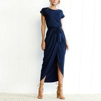 Slit Irregular Long Dress