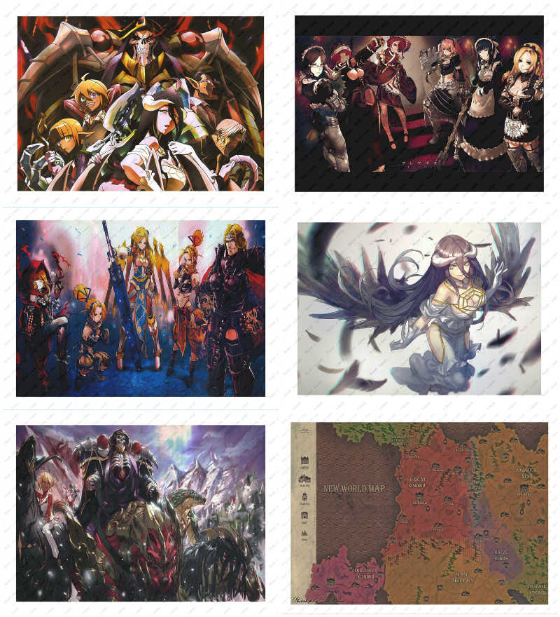 Overlord Anime World Map.Detail Feedback Questions About Wall Decorative Unique Ainz Ooal