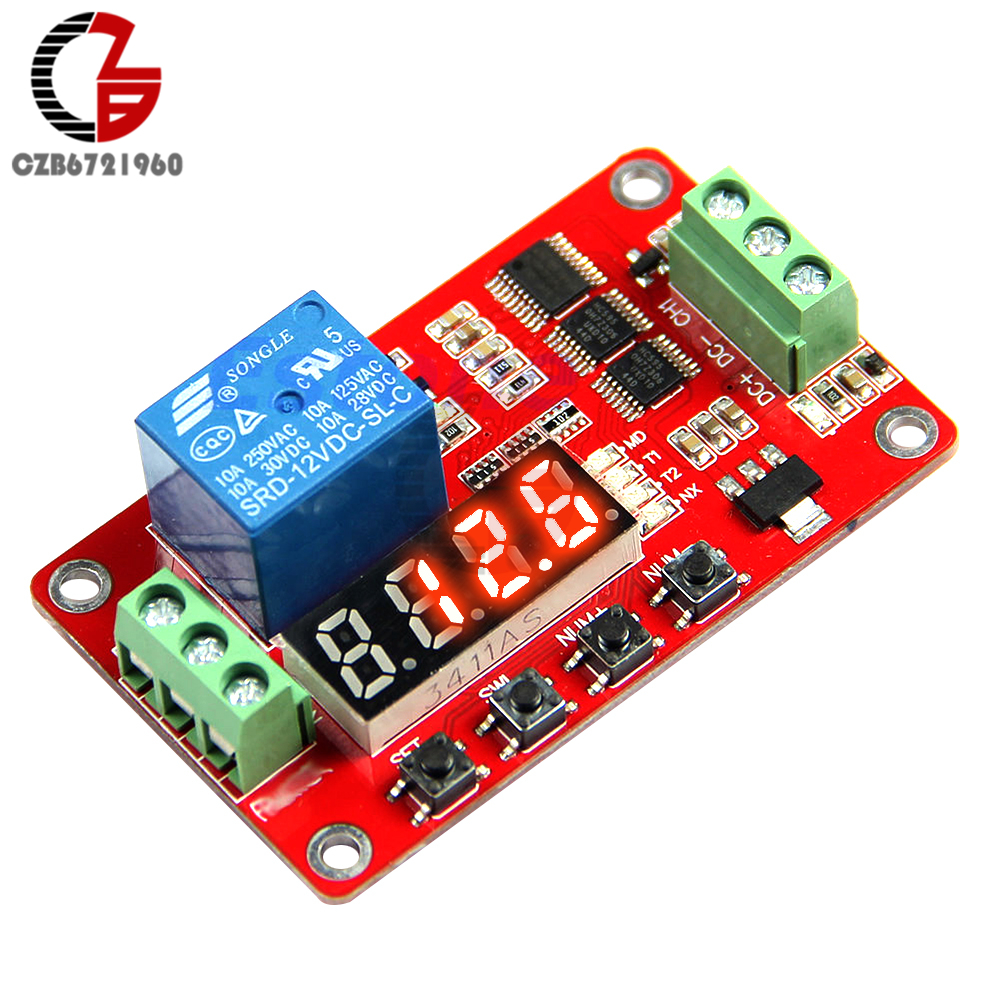 12V DC Multifunction Self-lock Time Delay Relay PLC Cycle Timer Switch Module PLC Home Automation Real Time Timing new original 1764 mm2rtc plc memory module and real time clock 1500