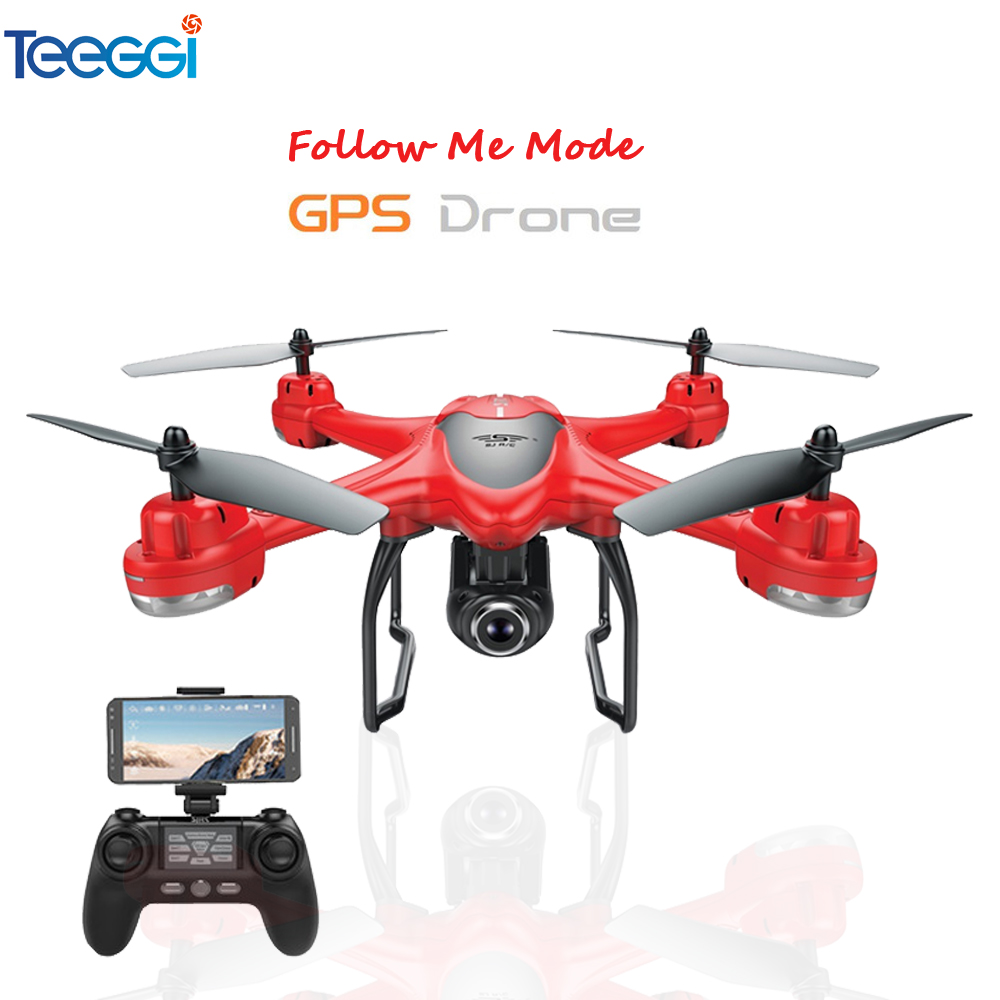 S30W Dual GPS RC Drone with 1080P WiFi FPV HD Camera RC Quadcopter Follow Me One-Key Return RC Helicopter VS S70W Bugs 5W cg033 dron follow me brushless motor rc drone with 1080p camera no wifi fpv long fly time rc helicopter pk aosenma cg035 s70w