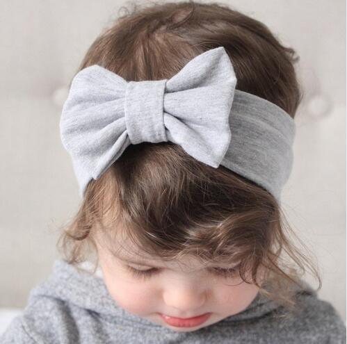 JRFSD Cotton Knot Elastic Headband for Girls Wide Hair Bands Aksesori - Aksesori pakaian - Foto 4