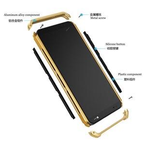 Image 2 - Per Il caso di Xiaomi Redmi Nota 8 Pro Telaio In Alluminio del Metallo Duro di Plastica Della Copertura Posteriore Per Xiaomi Redmi Nota 8 Pro fundas Sensazione Perfetta