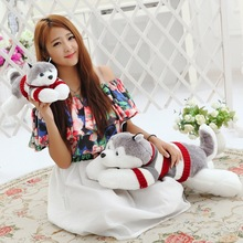 Free Shipping 50cm Plush Stuffed Toys Husky Dog Kid Doll Plush Toy Cute Animals Cushion Valentine Birthday Girl
