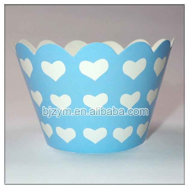Plus Populaire Imprimé Coeur Conception Chocolat Moule Bleu