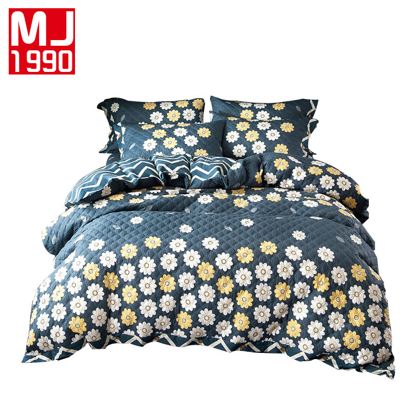 100% Cotton Quilted Bedding Set Mattress coverPillowcase & Duvet Cover Sets Classic Bedding Set 3 Size AB Side Duvet Covers 4PC100% Cotton Quilted Bedding Set Mattress coverPillowcase & Duvet Cover Sets Classic Bedding Set 3 Size AB Side Duvet Covers 4PC