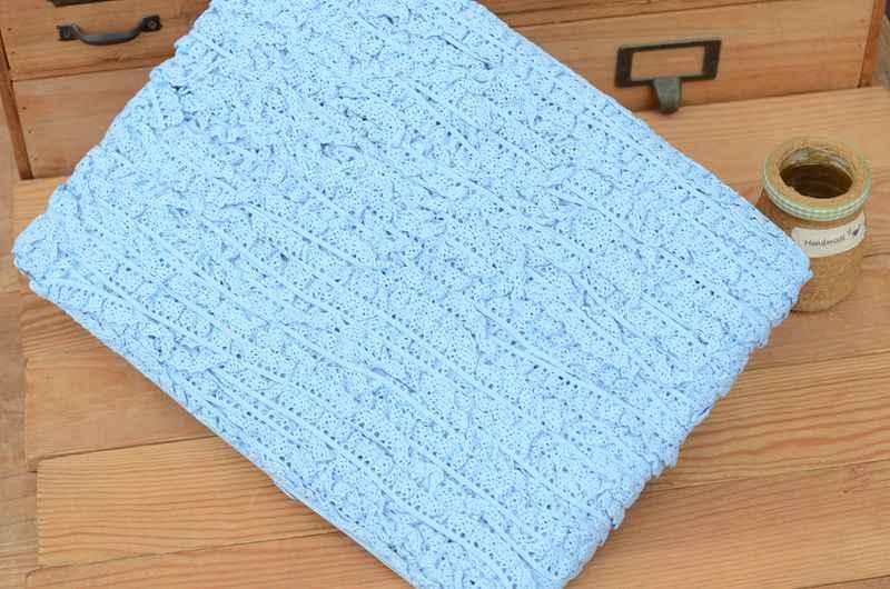 الوردي الأزرق تمتد القطن الدانتيل 1.3 سنتيمتر واسعة