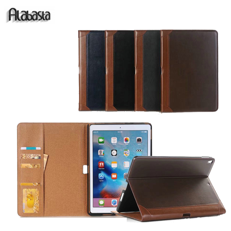 Alabasta Case for iPad Pro 12.9 Business Folio Stand Pouch PU Leather Auto Wake Smart Cover for iPad Pro 12.9 inches Stylus pen case for funda ipad pro 12 9 luxury business leather case tablet 12 9 inch wake up hand belt holder stand flip bags alabasta