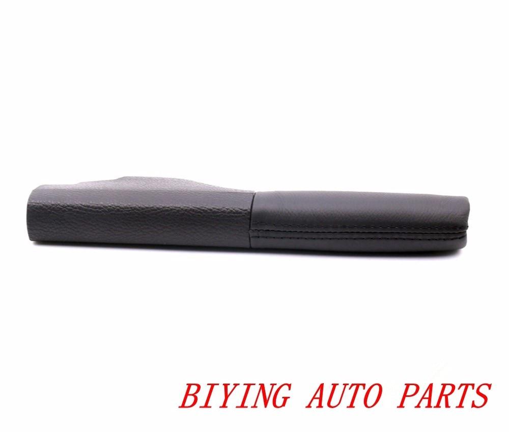 Genuine Leather Hand Brake Lever Cover For Vw Golf Mk6: Black Line Genuine Leather Original Hand Brake Lever Case