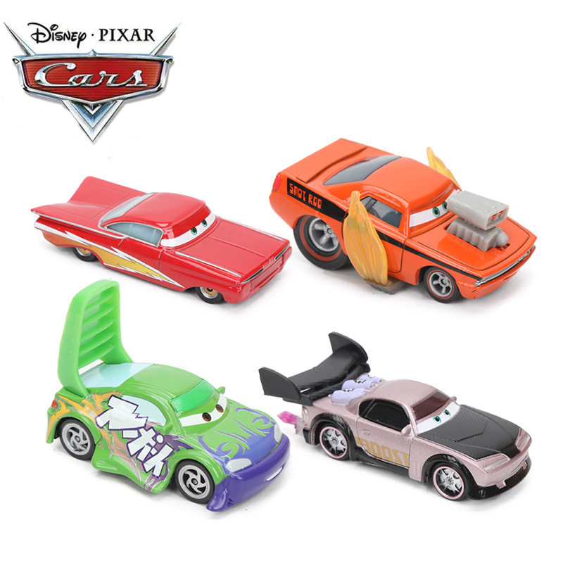 Mini Disney Pixar Cars Toy Lightning McQueen Cars 3 Mater Ramonoe Jackson Storm 1:55 Diecast Metal Alloy Model Car Toys For Kids