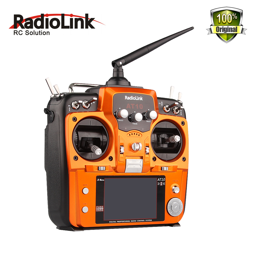 RadioLink AT10 2.4G 12CH RC Transmitter with R12DS Receiver Remote Control for RC Helicopter control distance for Drone Quadcopt graupner mz 12 radio controller rc transmitter 2 4ghz 6 ch remote control system with gr 18 receiver for rc airplane helicopter