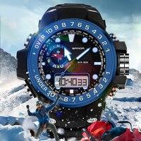 2018 New SANDA Luxury Brand Men Sport Digital Quartz Watches S Military Multifunction Shock Wristwatch For