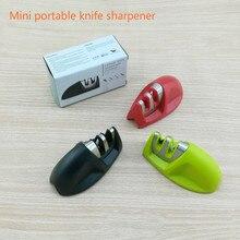 Kitchen gadgets household fast knife sharpener mouse grindstone portable mini portable mini kitchen knife sharpener green