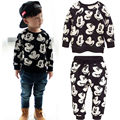 New Baby Boy Girls Cartoon Cute Clothing Sets Spring Fall Outfits Sweatsuit Tops Pants Leggings 2pcs Outfits Set 1 2 3 4 5 Y
