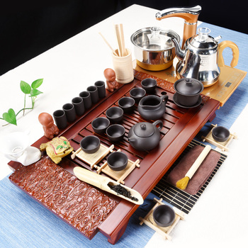 Kungfu Tea Set Household Modern Simple Tea-making Platform Tea Road Fully Automatic Four-in-One Solid Wood Tea Plate
