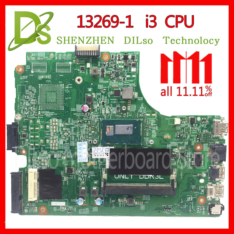 KEFU 13269-1 For DELL 3542 DELL 3442 dell 3543 3443 motherboard 13269-1 PWB FX3MC REV A00 motherboard I3 CPU GM work 100% for dell