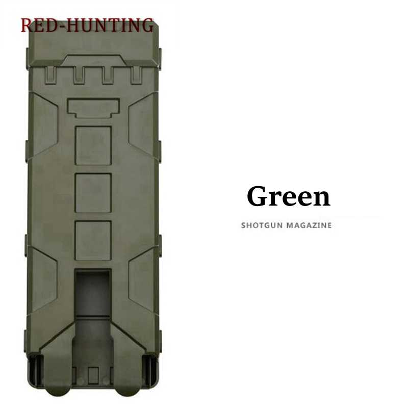 Polymer Ammo Bag 10 Rounds 12GA 12 Gauge Ammo Shells Case Reload Magazine Pouches Airsoft Box