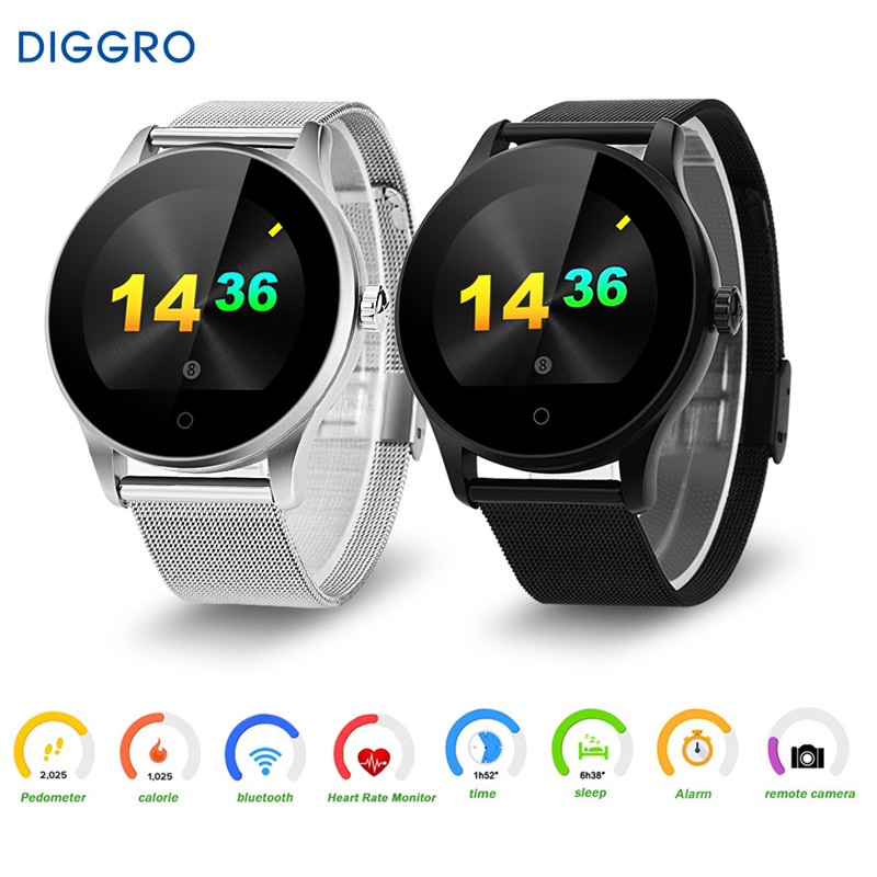 Diggro K88H Smart Watch Round Screen Support Heart Rate Monitor Bluetooth SmartWatch For Apple Huawei Xiaomi Phone IOS Android