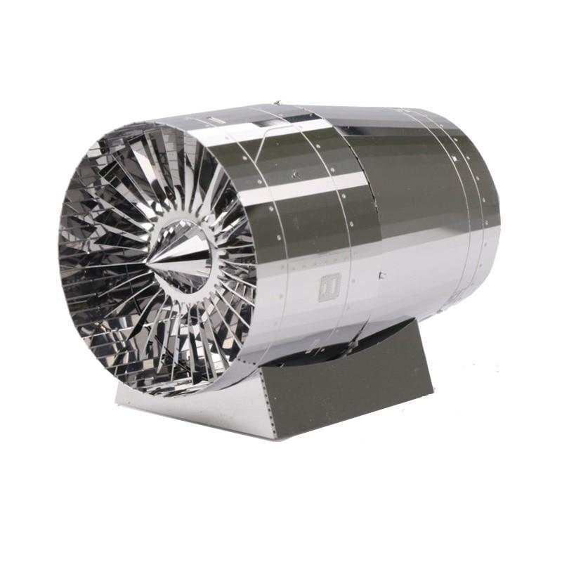 MU 3D Metal Puzzle Engine Turbine Building Model YM-N072 DIY 3D Laser Cut  Assemble Toys For Audit