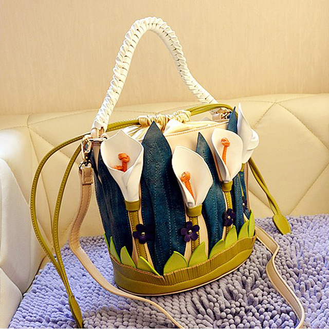 Fashion shoulder bag women leather bolsa feminina designer handbags high quality lily personality bag bucket women messenger bag
