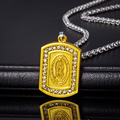 Virgin Mary Necklace New Trendy Platinum/18K Real Gold Plated Women/Men Jewelry Wholesale Colar Cross Pendant Necklaces