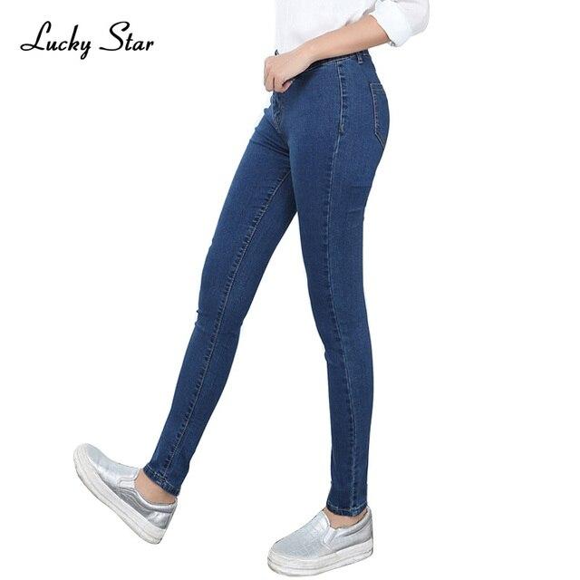 925791ab4f998 Skinny Jeans Mujer Pantalones Vaqueros Para Chicas Jeans Mujeres de Mediana  Cintura Jeans Stretch Mujer Pantalones