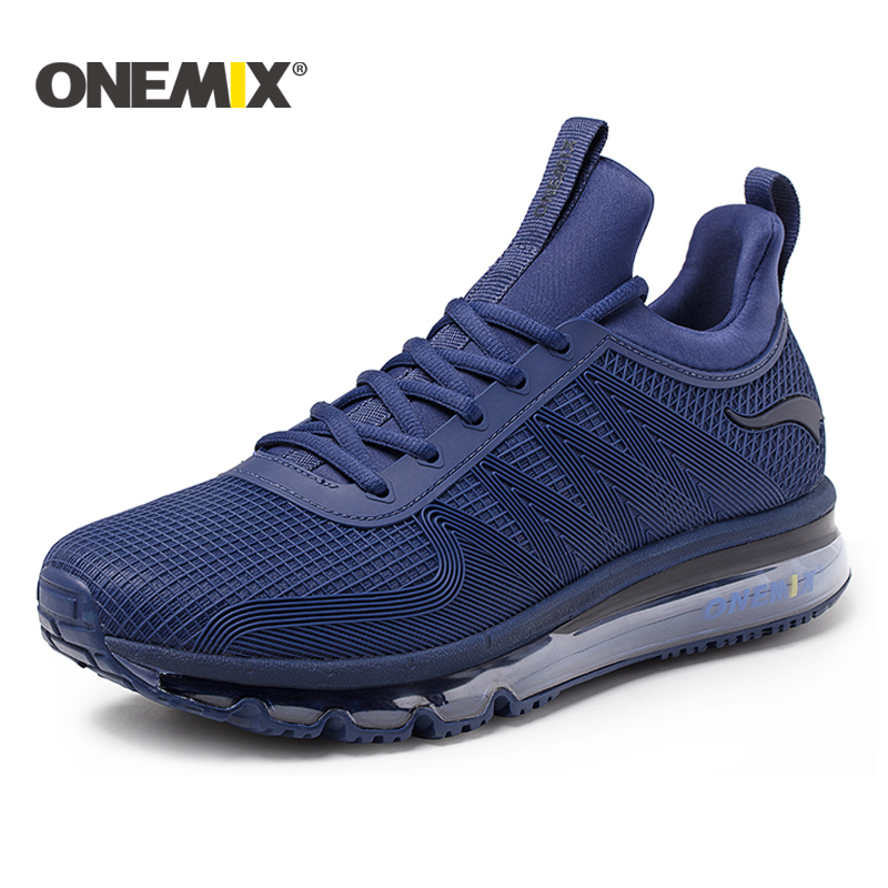 ONEMIX 2018 running shoes for men air cushion high top shock absorption sports sneaker light outdoor walking jogging shoes women
