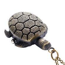Bronze Vintage Lovely Turtle Mini Small Size Quartz Pocket Watch Women Lady Girl Necklace Pendant Chain Birthday Gifts