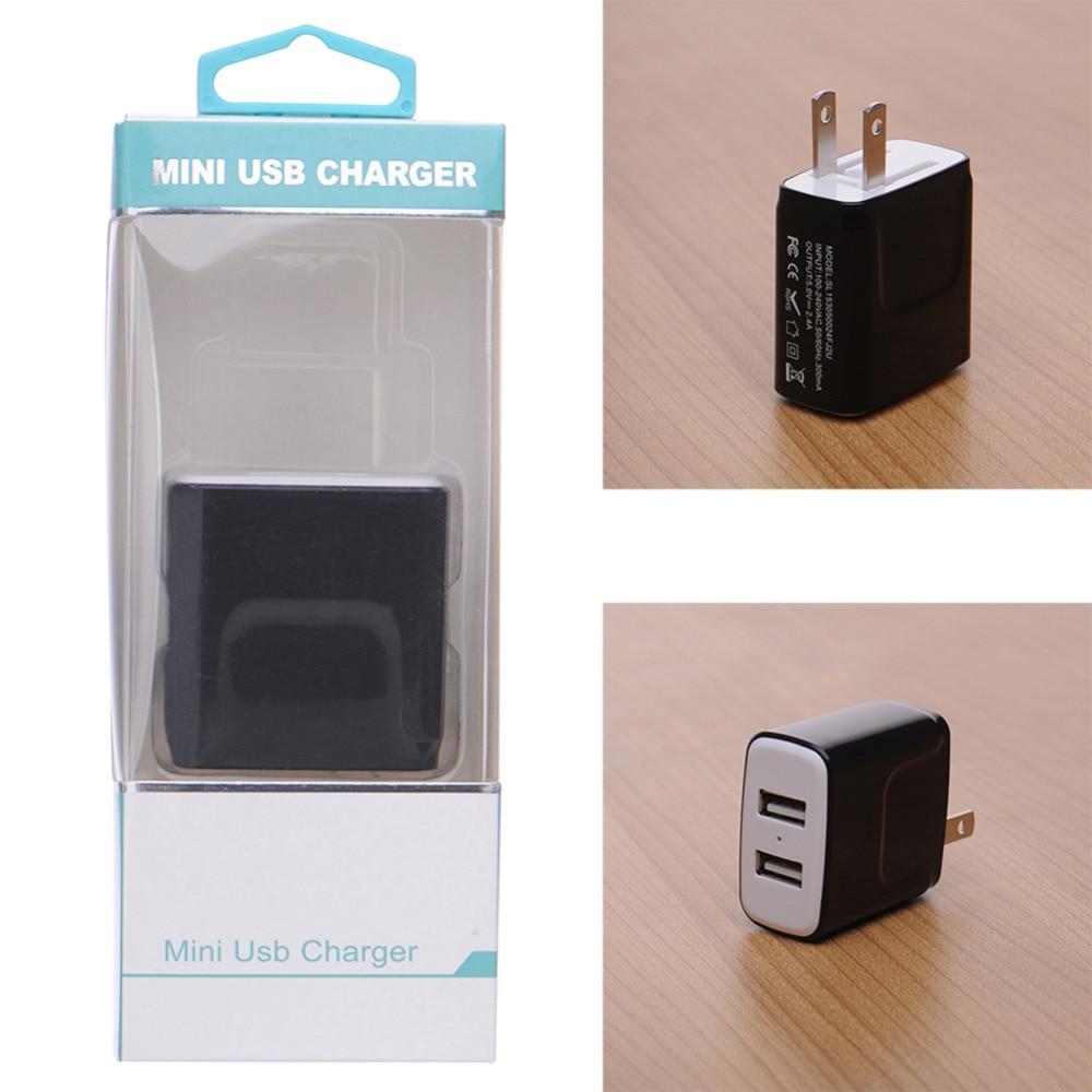 Oplader til telefonoplader 3.1A Dual USB-portvæg Hjemrejse - Mobiltelefon tilbehør og reparation dele - Foto 2