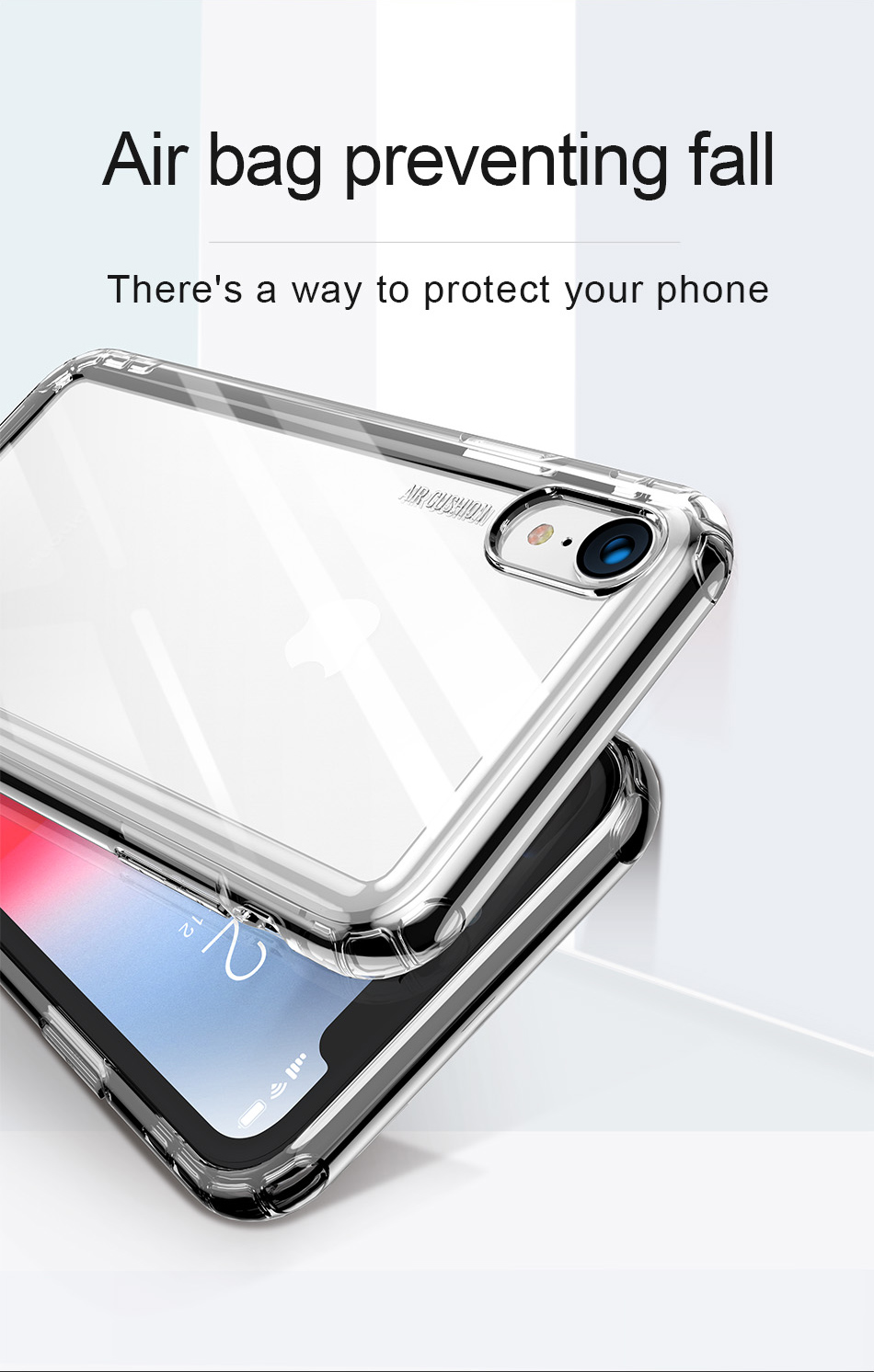 Baseus Transparent Silicone Phone Case For iPhone X Xs XR Xs Max Soft TPU Luxury Silicone Phone Case Shockproof Back Cover