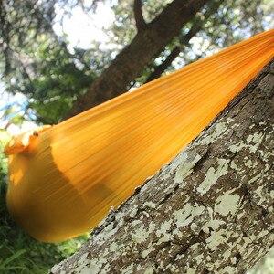 Image 2 - Hamaca de Camping SAMIBULUO, hamaca portátil de paracaídas ligero para senderismo, viajes, mochilero, 20 colores en existencias