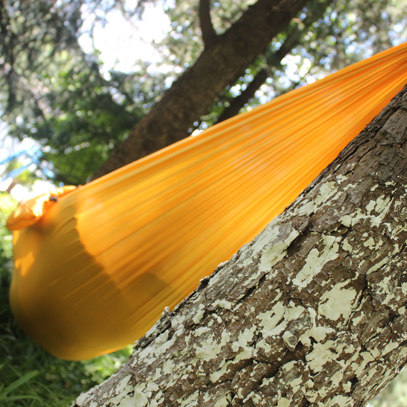 Image 2 - SAMIBULUO Camping Hammock Lightweight Parachute Portable Hamac for Hiking Travel Backpacking 20 Colors In Stock-in Hammocks from Furniture