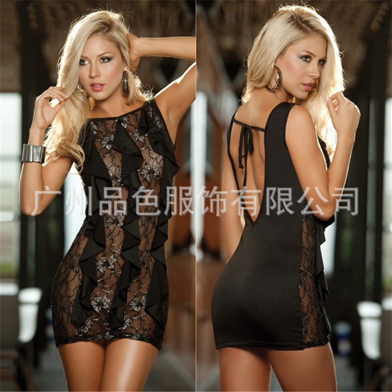 Women Exotic Dresses Sexy Hallow Out Backless Dresses Club Sexy Costumes  Ball Pole Dancing Dresses 1pce Dress+1pce Panties