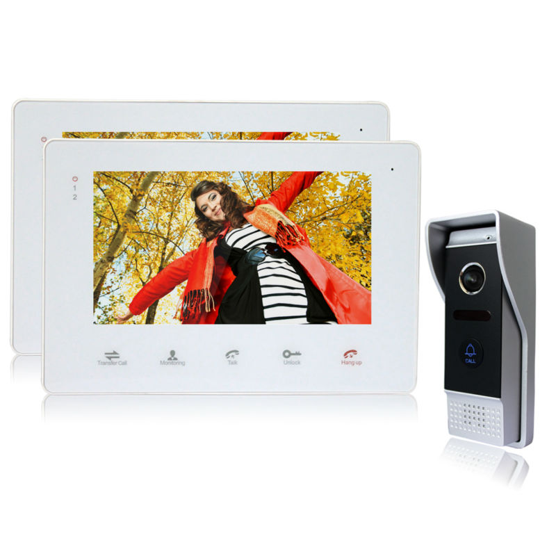 Homefong font b Door b font Phone 7 Inch TFT LCD Color Monitor Support SD Card
