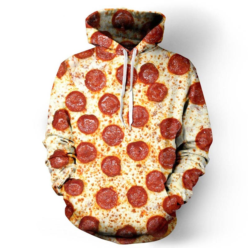 Headbook New Autumn Winter Fashion Women/Men Hoodies 3d Full Printed Pizza Thin Sweatshirt Hooded Hoodies Tracksuits YXQL013