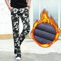 Зимний камуфляж брюки-карго мужские случайные штаны мужские комбинезоны теплые прямые брюки утолщение плюс флис хлопок