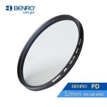 лучшая цена Benro 52mm PD CPL Filter PD CPL-HD WMC Filters 52mm Waterproof Anti-oil Anti-scratch Circular Polarizer Filter Free Shipping