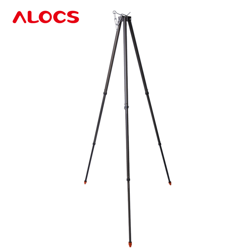 Hard Alumina&Steel Barbecue Brandise Portable Mount Tripod Outdoor Camping Picnic Fire Party Supplies Used BBQ Tools CF-RT06 hewolf portable size outdoor camping beach bbq barbecue grill rack household use lightweight folding picnic rack stand well sell