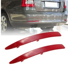 2 Pcs ABS Rear Bumper Reflector Bar Lights Red 1ZD 945 106 105 For 2010 14